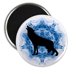 Wolf Silhouette Magnet