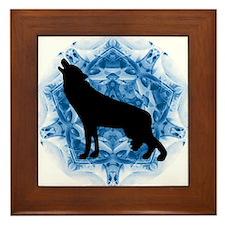 Wolf Silhouette Framed Tile