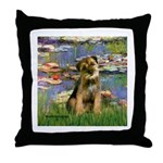 Lilies 2 / Border T Throw Pillow