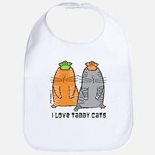 I Love Tabby Cats Bib