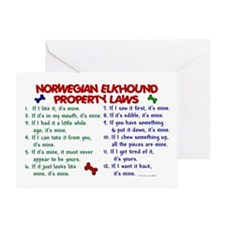 Norwegian Elkhound Property Laws 2 Greeting Card