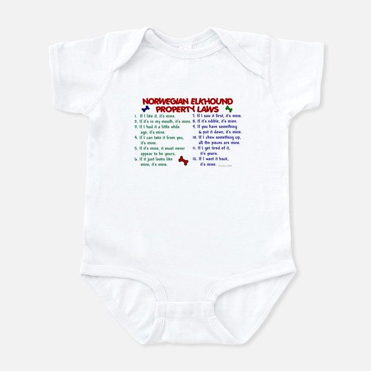 Norwegian Elkhound Property Laws 2 Infant Bodysuit