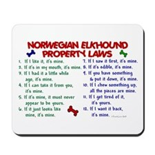 Norwegian Elkhound Property Laws 2 Mousepad