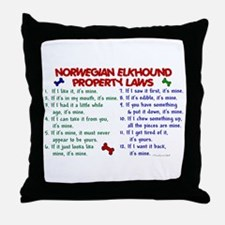 Norwegian Elkhound Property Laws 2 Throw Pillow