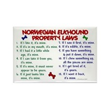 Norwegian Elkhound Property Laws 2 Rectangle Magne