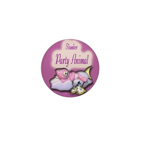 Slumber Party Animal Gifts Mini Button (10 pack)