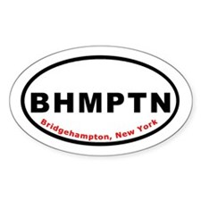 Bridgehampton New York BHMPTN Oval Decal