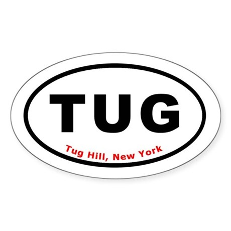 Tug Hill New York TUG Euro Ov Oval Sticker