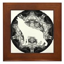 White Wolf Framed Tile