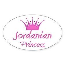 Jordanian Princess Oval Decal