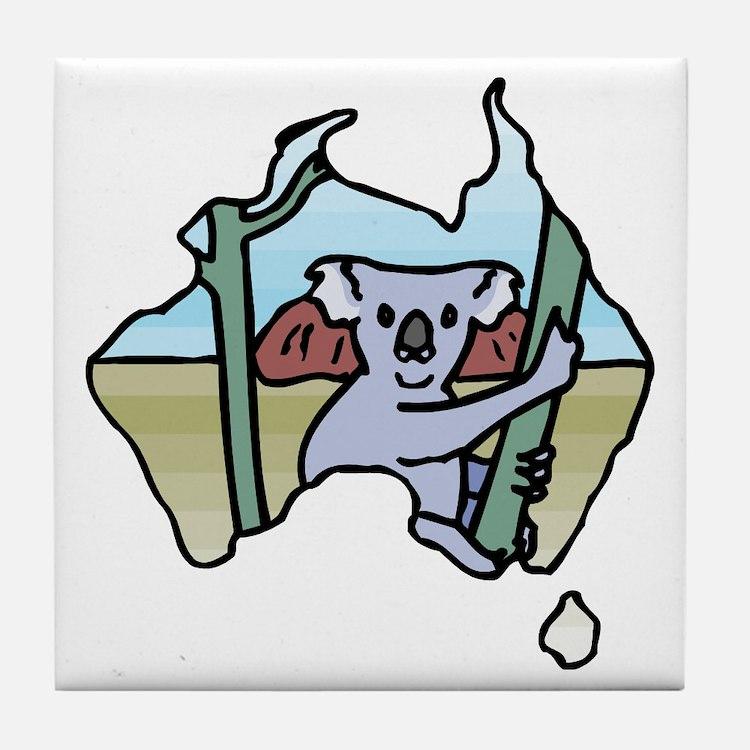 Koala Australia Tile Coaster