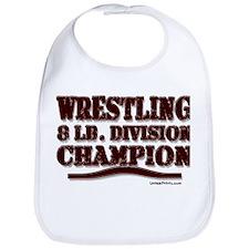WRESTLING 8 LB. CHAMPION Bib