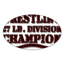WRESTLING 27 LB. CHAMPION Oval Decal