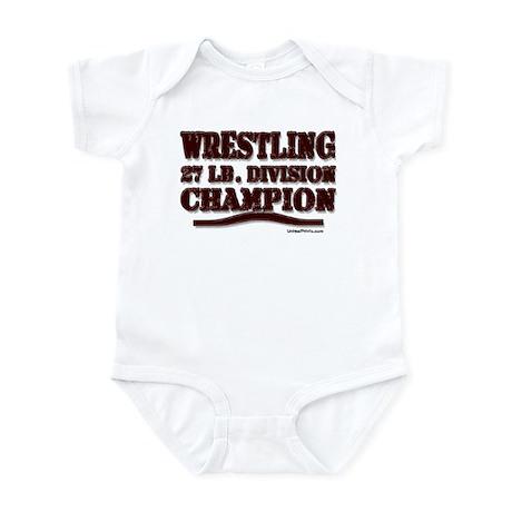 WRESTLING 27 LB. CHAMPION Infant Bodysuit