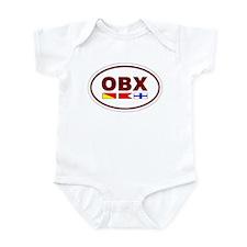 OBX - Dark Red Infant Bodysuit