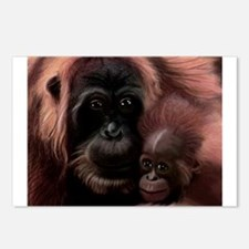 Orangutan Mother Postcards (Package of 8)