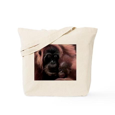 Orangutan Mother Tote Bag