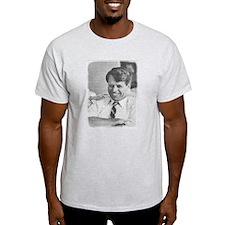 Photo Mosaic Robert F. Kenned Ash Grey T-Shirt