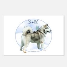 Malamute Noel Postcards (Package of 8)