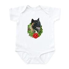 Akita Wreath Infant Bodysuit
