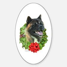 Akita Wreath Oval Decal