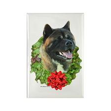 Akita Wreath Rectangle Magnet (10 pack)