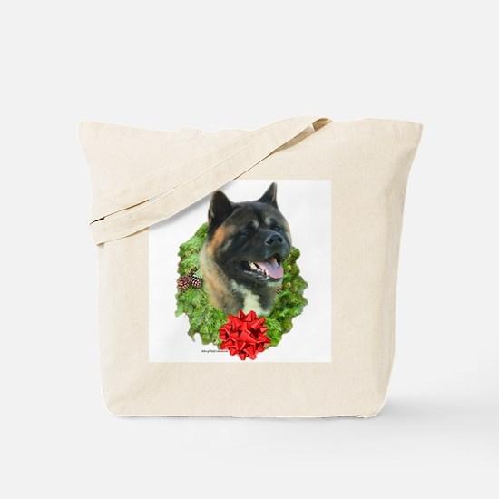 Akita Wreath Tote Bag