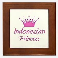 Indonesian Princess Framed Tile