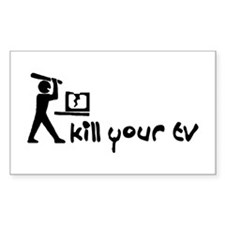 Kill Your TV Rectangle Decal