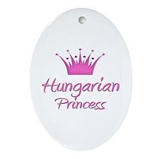 Hungarian Princess Oval Ornament