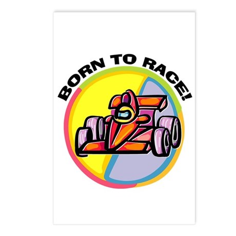 Born to Race Postcards (Package of 8)