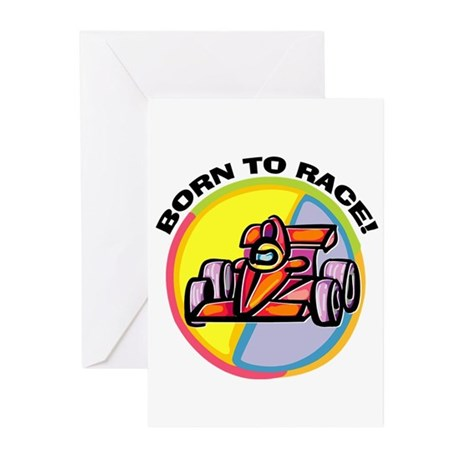 Born to Race Greeting Cards (Pk of 10)