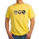 Peace Love Mexico Yellow T-Shirt