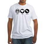 Peace Love Mexico Fitted T-Shirt