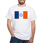 New York City Flag White T-Shirt