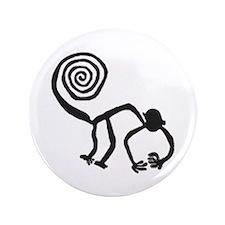 """Nazca Monkey (black) 3.5"""" Button"""