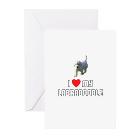 I Love My Labradoodle Greeting Cards (Pk of 10)