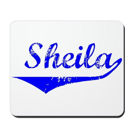 Sheila Vintage (Blue) Mousepad