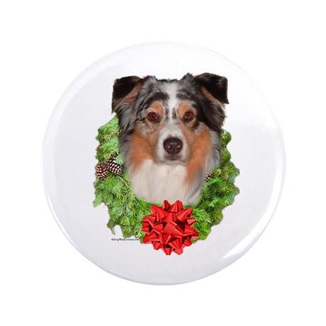 """Aussie Wreath 3.5"""" Button (100 pack)"""