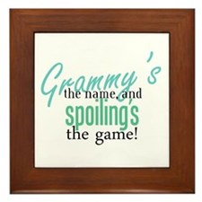 Grammy's the Name, and Spoiling's the Game! Framed