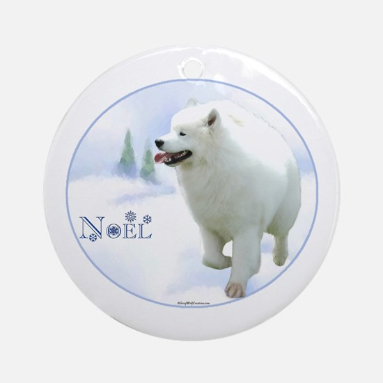 Samoyed Noel Ornament (Round)
