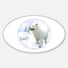 Samoyed Noel Oval Decal