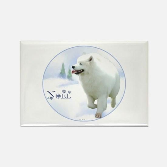 Samoyed Noel Rectangle Magnet