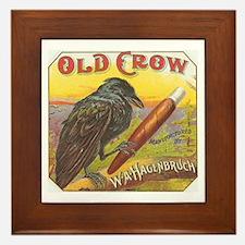 Old Crow Framed Tile