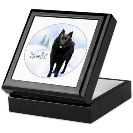 Schipperke Noel Keepsake Box