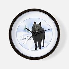 Schipperke Noel Wall Clock