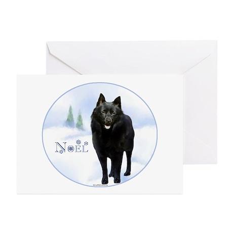 Schipperke Noel Greeting Cards (Pk of 10)
