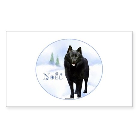 Schipperke Noel Rectangle Sticker