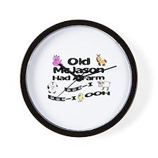 Old McJared Had a Farm Wall Clock
