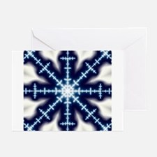 """""""Snowflake in Blue"""" Greeting Cards (Pk of 10)"""